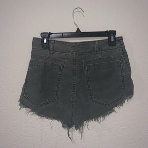 Free People Shorts - FREE PEOPLE BLACK CUT OFF SHORTS